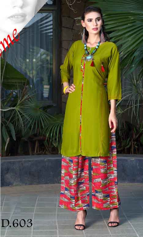 SMC SONALI D603-D NO 603 WOMEN KURTI WITH PALAZO