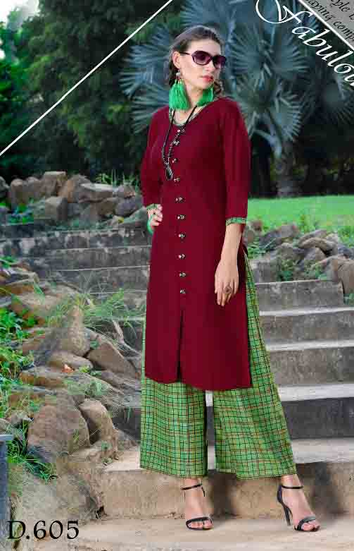 SMC SONALI D605-D NO 605 WOMEN KURTI WITH PALAZO