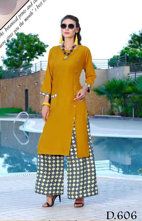 SMC SONALI D606-D NO 606 WOMEN KURTI WITH PALAZO