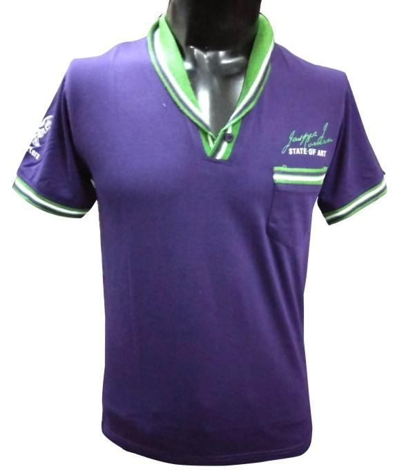 STATE OF ART - Purple Collar T-shirt