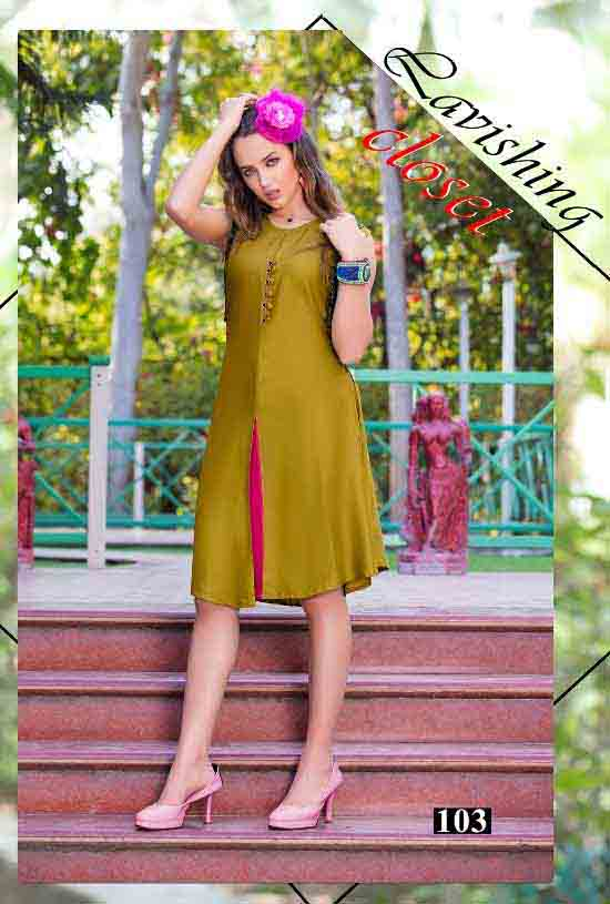 SMC STYLISH 01-D NO 3 WOMEN SLEEVELESS KURTI