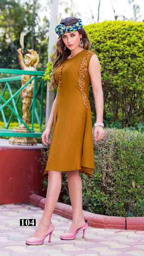 SMC STYLISH 01-D NO 4 WOMEN SLEEVELESS KURTI