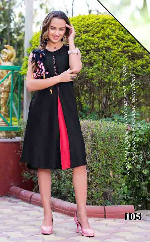 SMC STYLISH 01-D NO 5 WOMEN SLEEVELESS KURTI