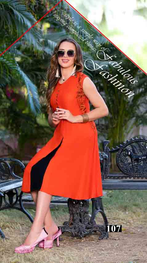 SMC STYLISH 01-D NO 7 WOMEN SLEEVELESS KURTI