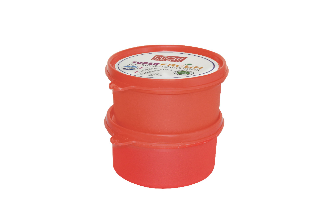 FOOD CONTAINER SET 400 ML(SET OF 2) SHADE -RED