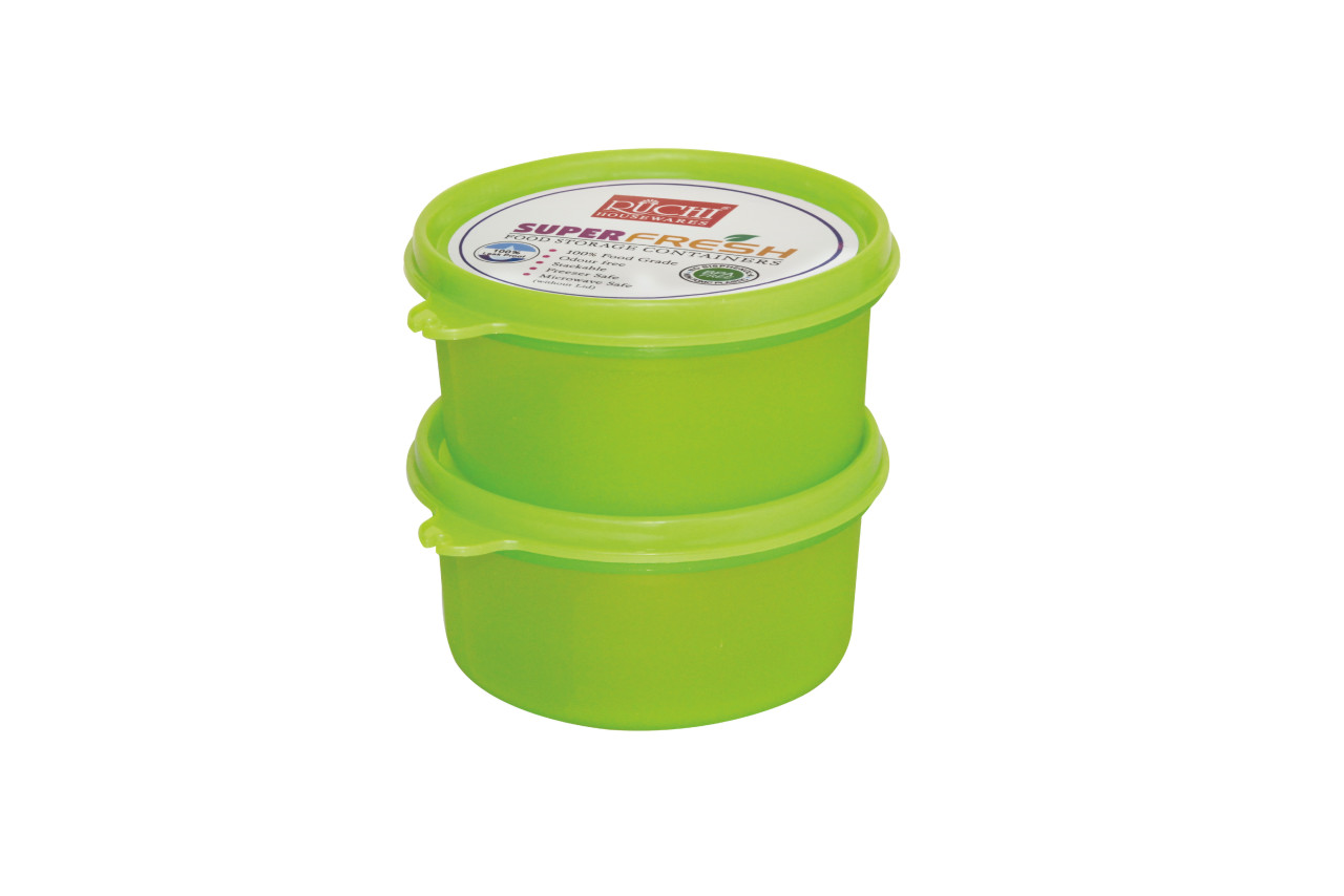 FOOD CONTAINER SET 400 ML(SET OF 2) SHADE-GREEN