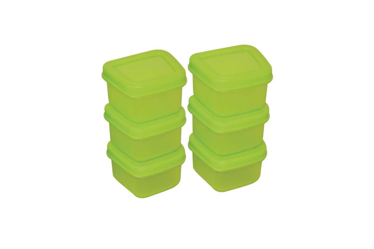 Mini Food Container set 90 ml(Set Of 6) SHADE-GREEN