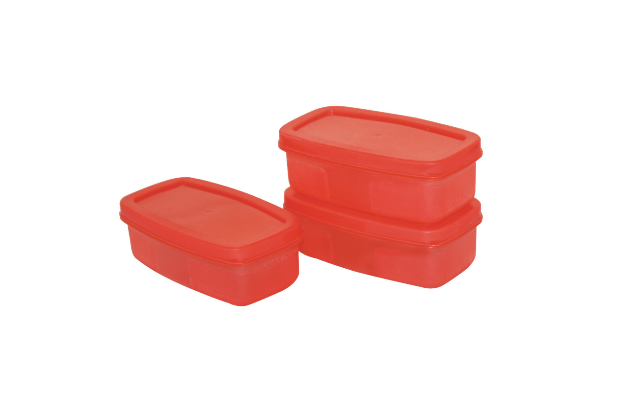 Small Food Container set 200 ml(Set Of 3) SHADE-RED
