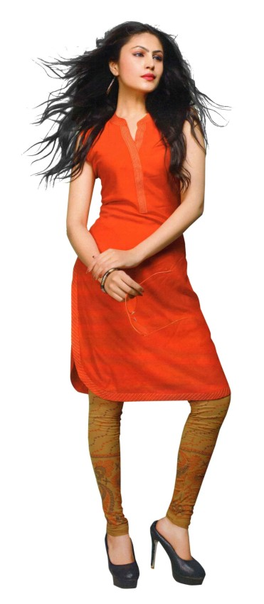 SanFash Z4U 02 - 1008 Orange/Beige Kurti & Legging Set