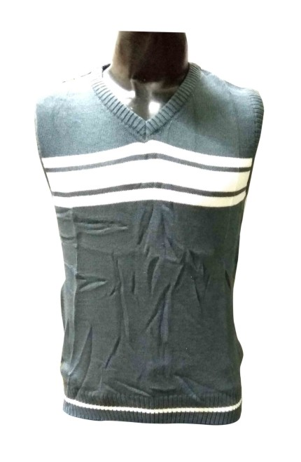 Sl V Neck - Gray Sleeveless Sweater