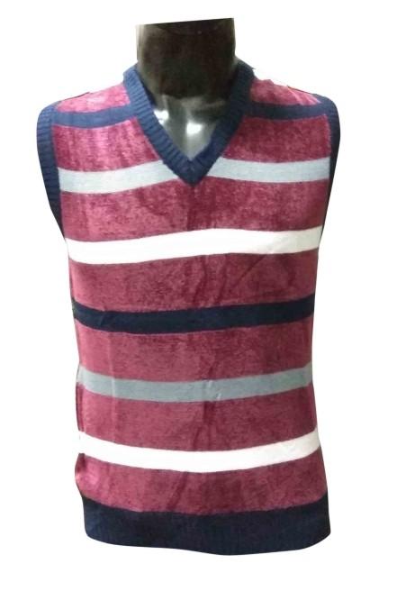 Sl V Neck - Purple Sleeveless Sweater