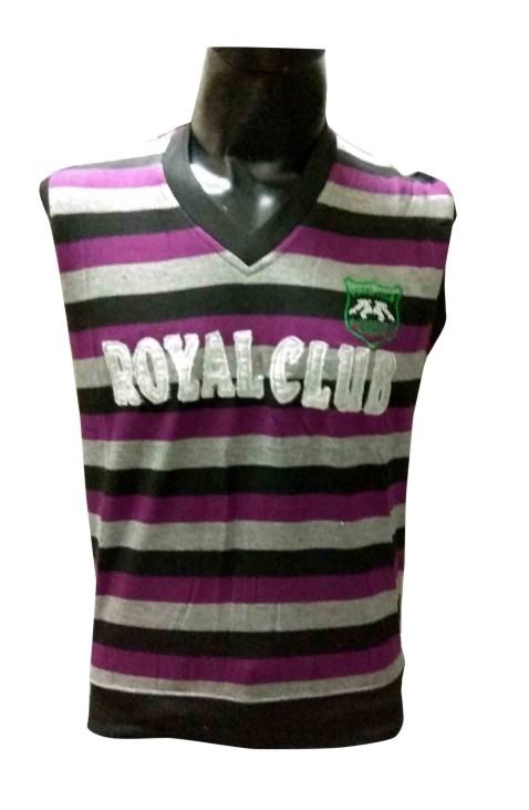 Sl V Neck Royal Club - Purple Sleeveless Sweater