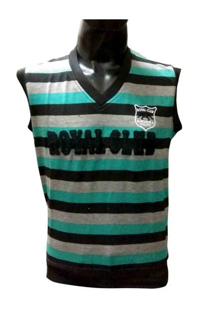 Sl V Neck Royal Club - Sea Green Sleeveless Sweater