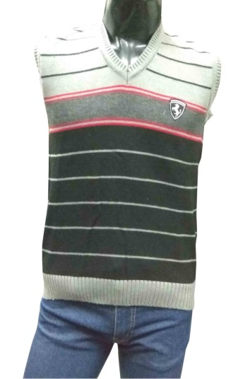Sleeveless V Neck HORSE GRAY  / BLACK Sweaters