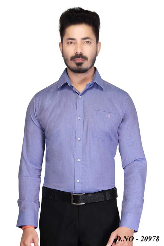 TA 002-BLUE FORMAL SHIRT