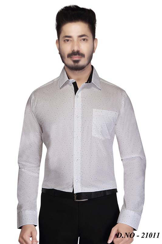 TA 030-BLACK DOT FORMAL SHIRT