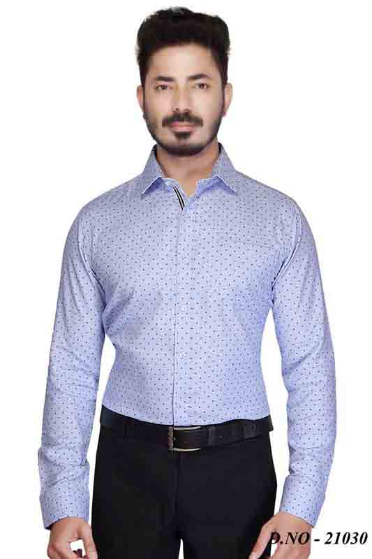 TA 048-BLUE PRINT FORMAL SHIRT
