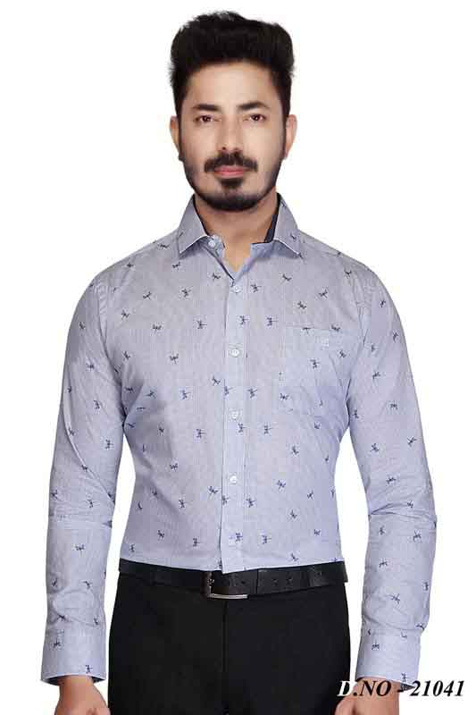 TA 054-CHAMBRAY FORMAL SHIRT