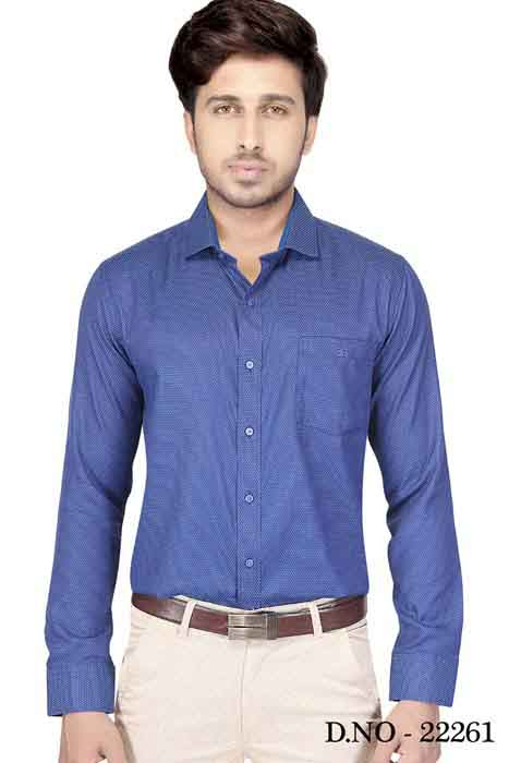 TA 1003 01-DEPTH BLUE FORMAL SHIRT