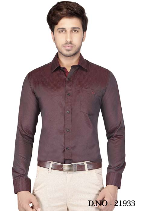 TA 1001 02-DARK BROWN FORMAL SHIRT