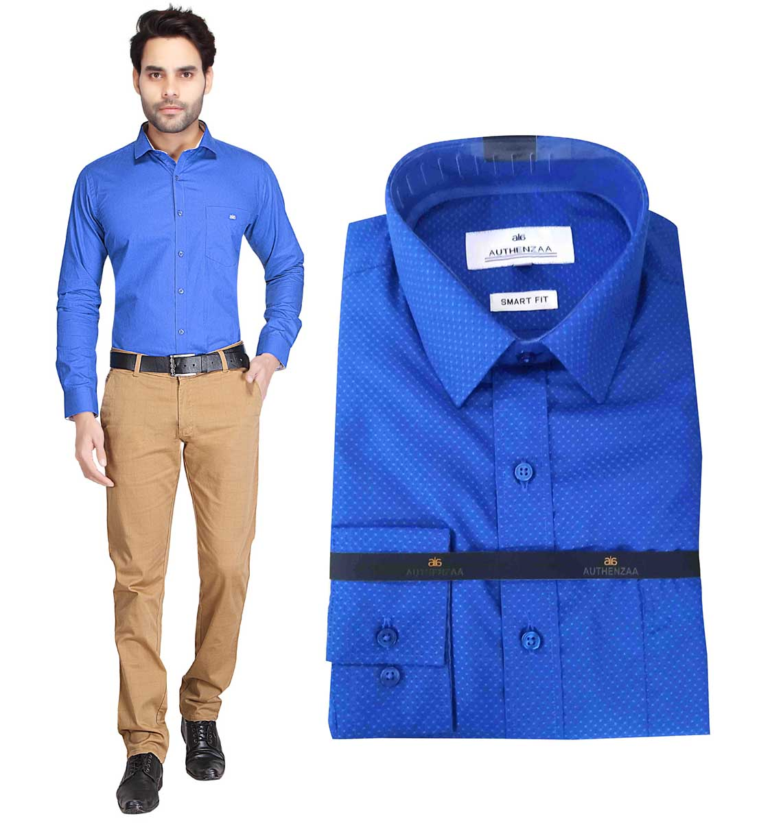 TA 1003 02-ROYAL BLUE FORMAL SHIRT