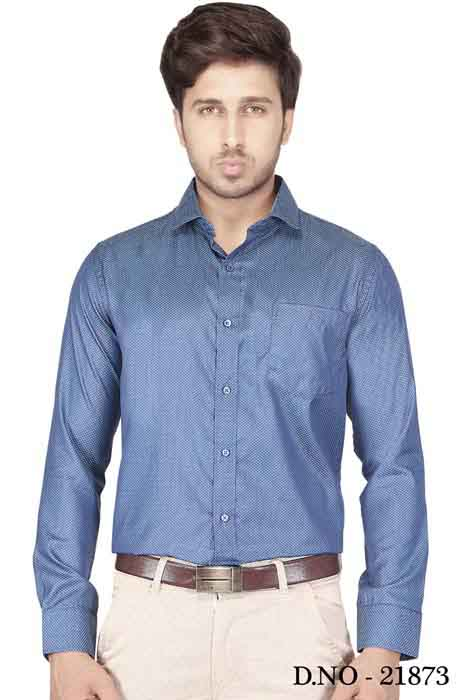 TA 120377 01-INDIGO BLUE FORMAL SHIRT