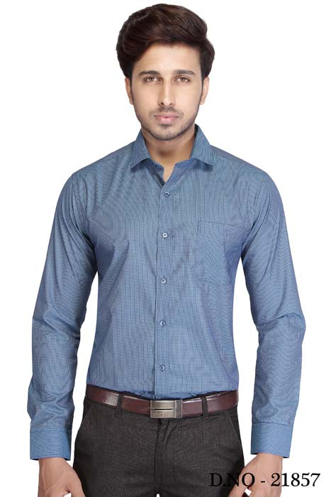 TA 120393 01-INDIGO BLUE FORMAL SHIRT