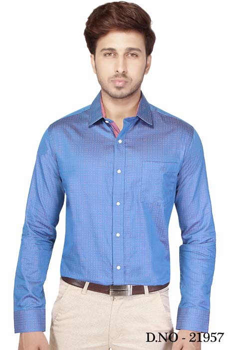 TA J 3752-BLUE FORMAL SHIRT