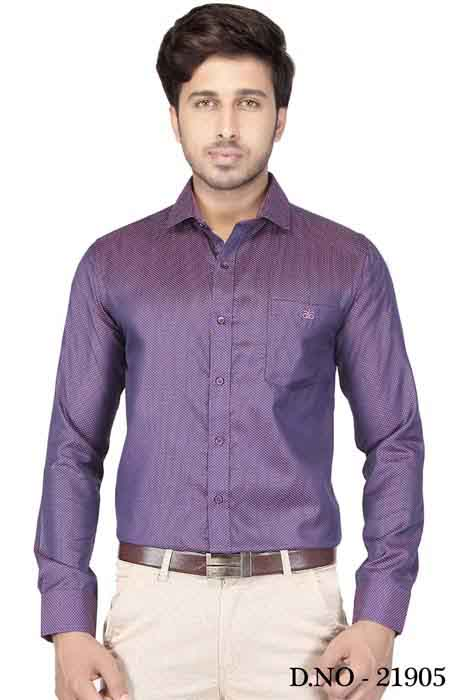 TA J6032-PURPLE FORMAL SHIRT