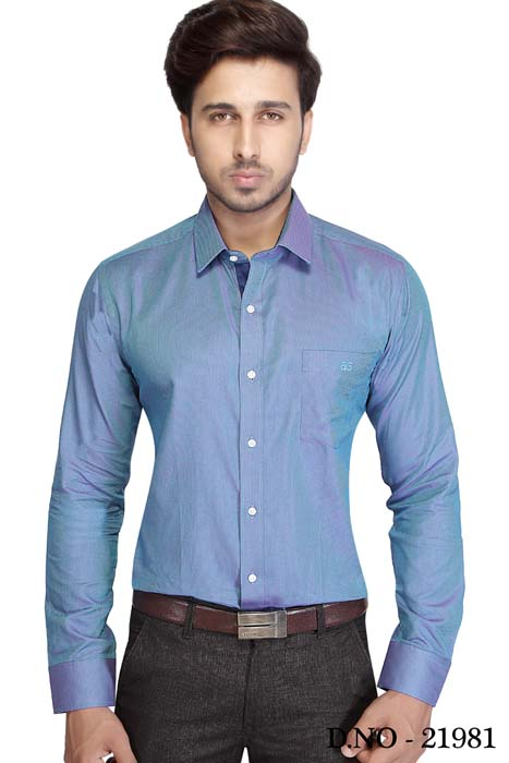 TA JB 1528-DEPTH BLUE FORMAL SHIRT