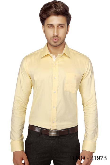 TA JB 754-YELLOW FORMAL SHIRT