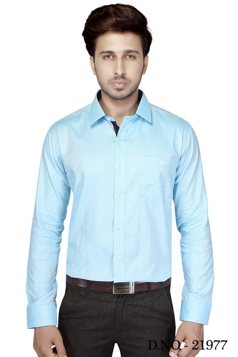 TA JB 755-ICE BLUE FORMAL SHIRT