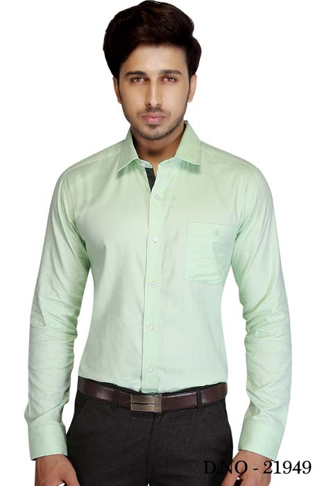 TA JB 757-LIGHT GREEN FORMAL SHIRT