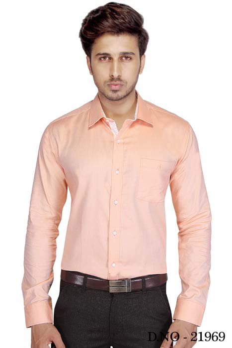TA JB 758-PEACH FORMAL SHIRT