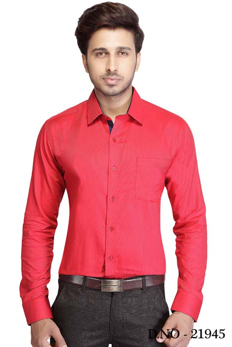 TA JB 762-RED FORMAL SHIRT