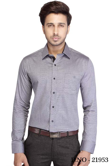 TA JEL 175-GRAY FORMAL SHIRT