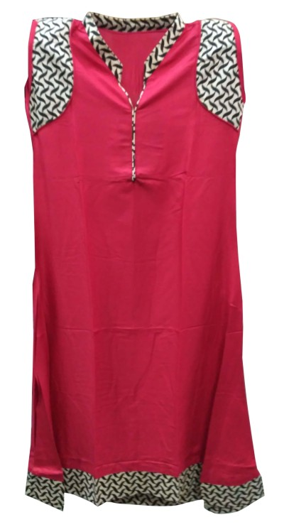 TAMANNA 10595 - Pink 1 Cotton Stitched Kurti