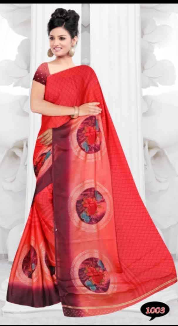 WOMEN SAREE WITH BLOUSE-D NO 2-TWO TONE 02