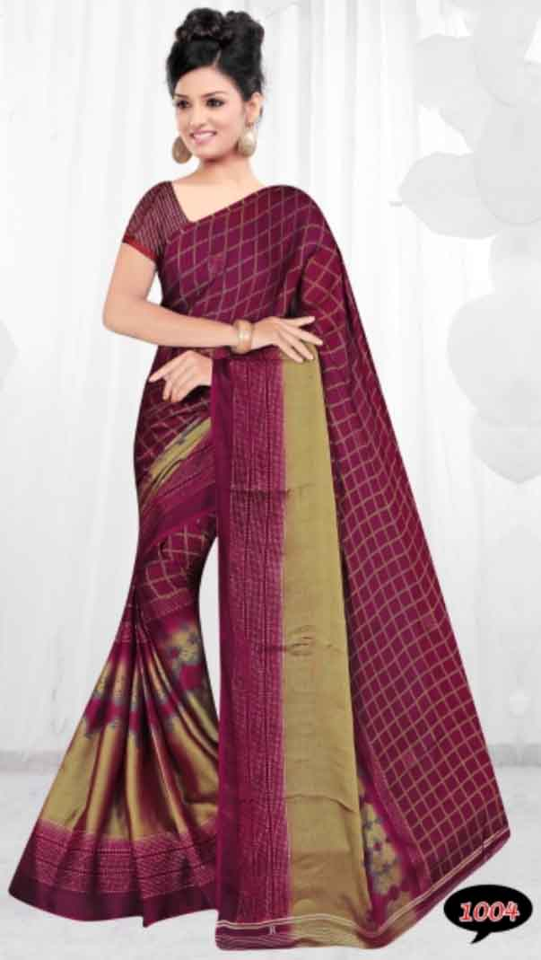 WOMEN SAREE WITH BLOUSE-D NO 1-TWO TONE 02