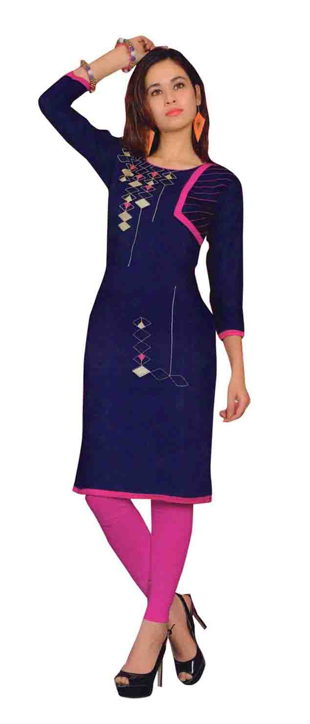 SMC TWINKLE 01-D NO 9 FULL SLEEEVES RAYON KURTI