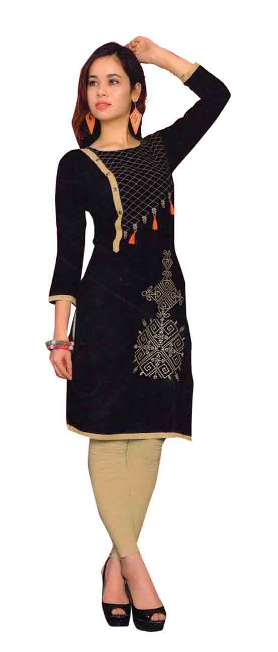 SMC TWINKLE 01-D NO 1 FULL SLEEEVES RAYON KURTI