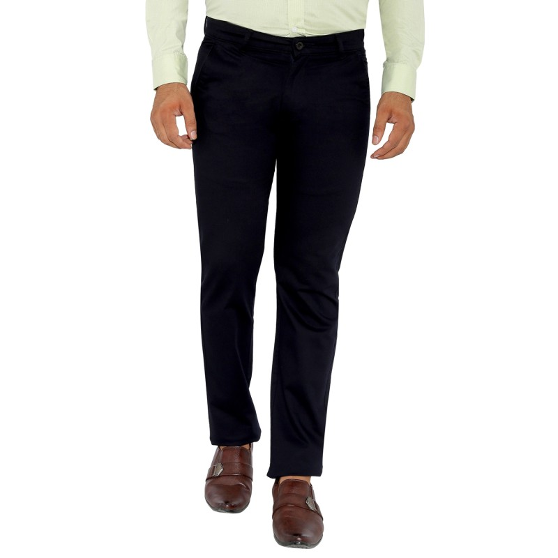 UTD 6 - Navy Cotton Lycra Casual Trousers