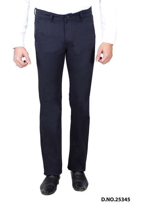 UTD STYLE 13703-BLUE CASUAL TROUSER
