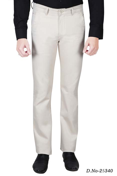 UTD STYLE 13703-CREAM CASUAL TROUSER