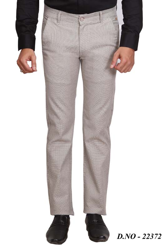 UTD 314 LAYCRA-LIGHT CREAM CASUAL TROUSER