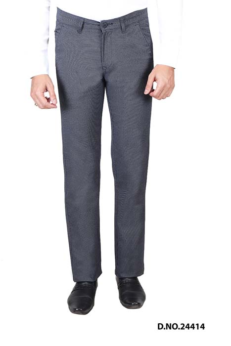 UTD STYLE  676-BLUE CASUAL TROUSER
