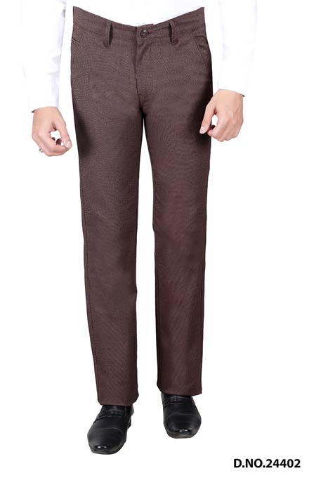 UTD STYLE  676-COFFEE CASUAL TROUSER