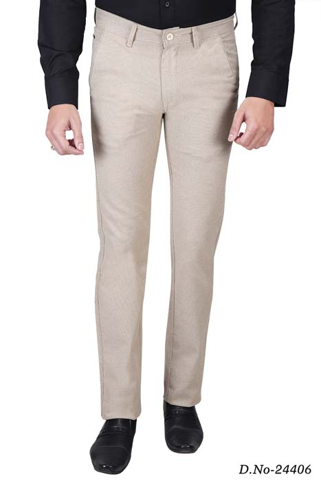 UTD STYLE  676-CREAM CASUAL TROUSER
