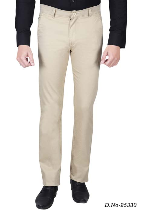 UTD STYLE 824-CREAM CASUAL TROUSER