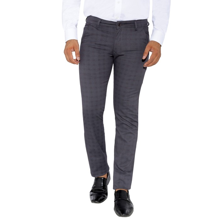 UTD 9 - Gray Checks Cotton Casual Trousers